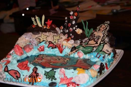 Torta Barbie e le sirene