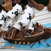 Compleanno Pirati per il Miciolas con torta nave dei pirati