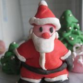Babbo Natale, alberelli e pacchettino in PDZ