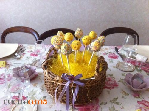 cake pops pulcini pasquali