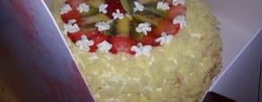 Torta mimosa alla frutta