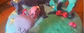 Beamarito: torta Spongebob e torta zoo