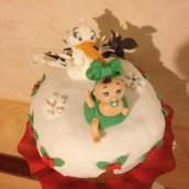 E se a Natale arrivasse la Cicogna?!! Panettone decorato!!