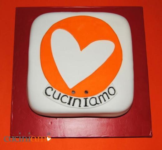 Torta dolcecuore per la nascita di CuciniAmO