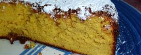 Torta morbida di mandorle e mele