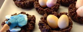 Nidi di cioccolato e cereali