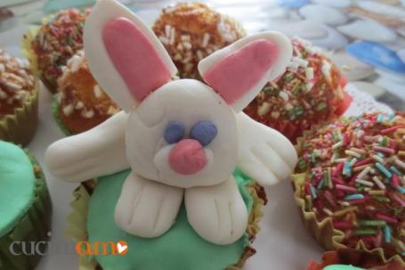 cup cake decorato con il coniglietto Pasquale