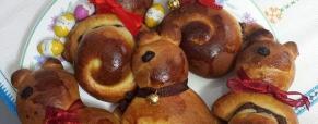Coniglietti di pasta brioche ripieni di nutella