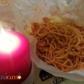 Spaghetti calamari e vongole al cartoccio