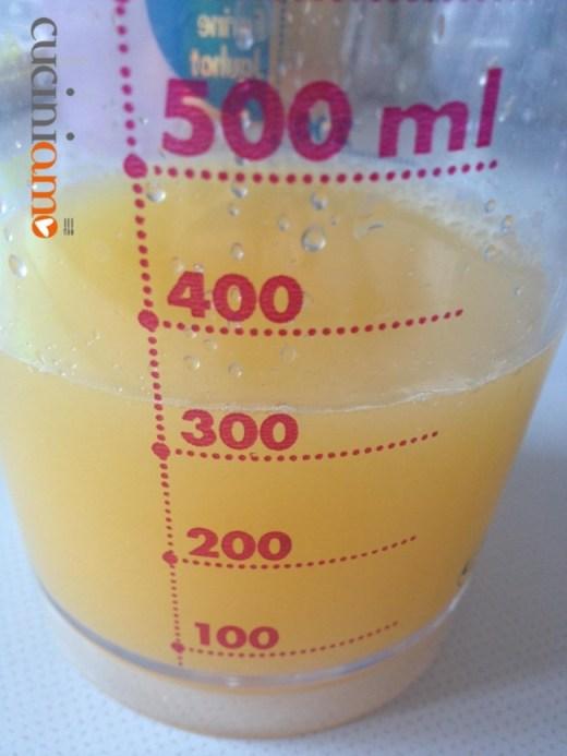 succo d'arancia con siero di yogurt di soja