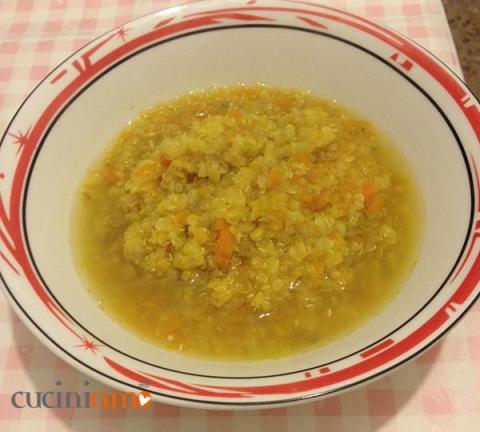 Zuppa di lenticchie e quinoa