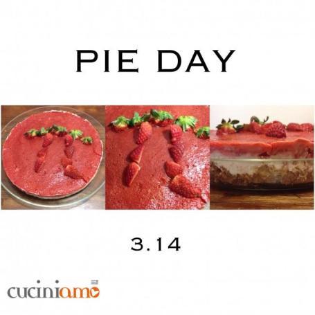 Strawberries cheese cake Pie Day