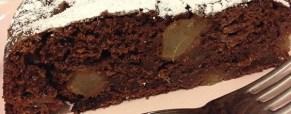 Torta deliziosa pere cioccolata vegana