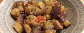 Melanzane alla granella di pistacchi
