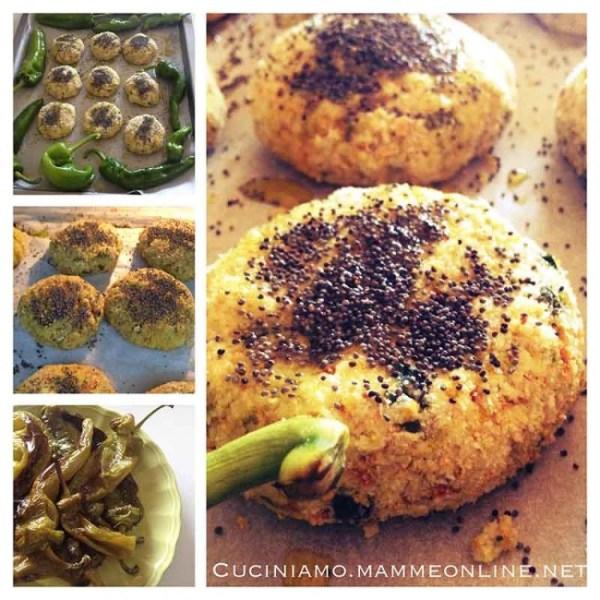 Polpette di zucchine, ricotta,mandorle e alga wakame
