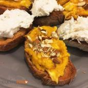 Crostini d'autunno zucca e gorgonzola