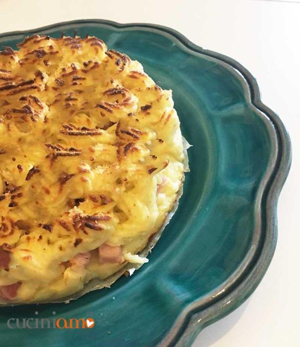 Crostata salata di patate e pancetta