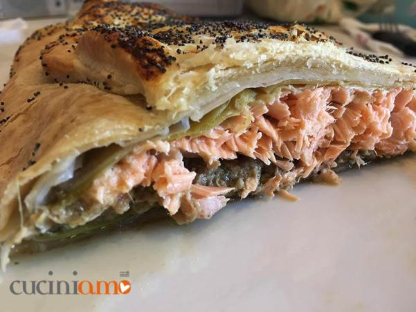 Filetto di salmone alla Wellington - fotoricetta