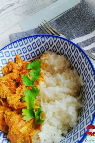 curry de vita cu orez basmati