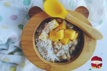 budinca de chis cu cocos si mango