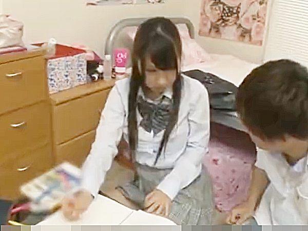 ◆家庭教師 制服JK娘◆『そんなコトないです..』勉強中にプライベートな話題ばかり聞くヤバイ感じの先生ですが。。!?