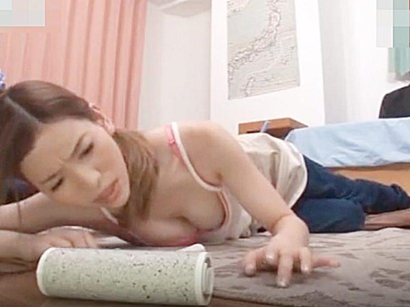 ◆家事代行・寝取り 芦名ユリア◆『かっ、身体が..!?』出された飲み物に薬が。。動けなくなる美人家政婦さん!?ヤバイやつ