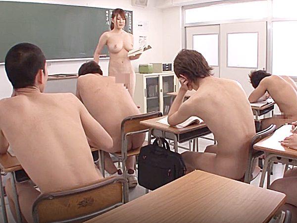 ◆エロドラマ・女教師|仁科百華◆男子校の新任先生はデカパイ美人。。全裸が規則のヤバイ学園で悪戦苦闘する美女ですョ~