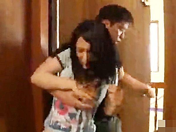 ☆押し込み強姦|着衣セックス☆『ハァハァ、、!?』不審な男に追いかけられ自宅へ逃げたデカパイ美女ですが..!?残念でした