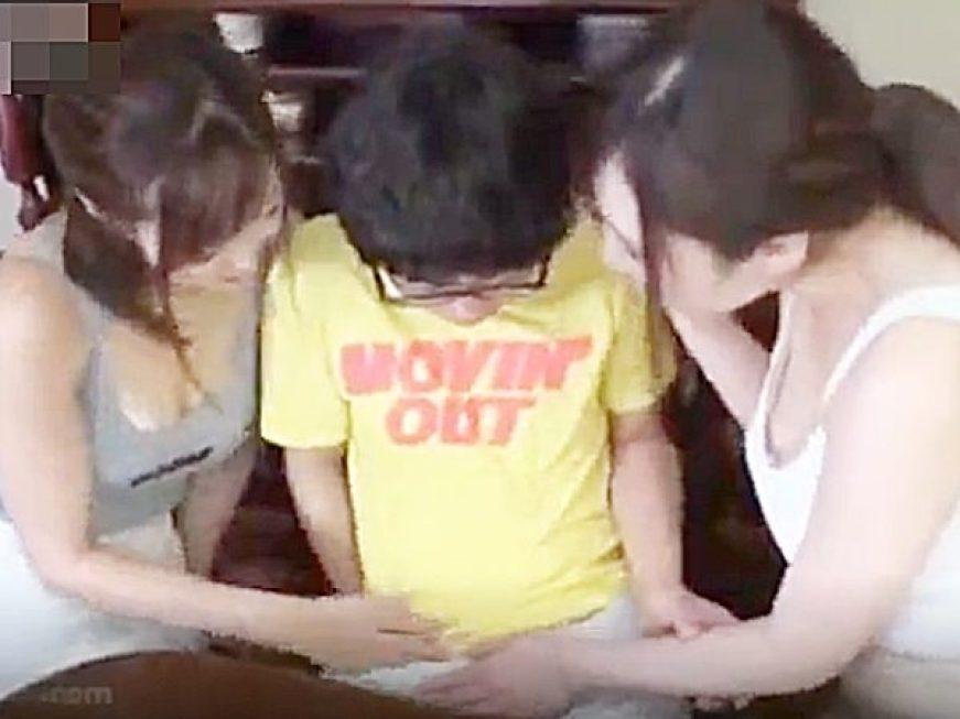 ★ドラマ|おねショタ★『もう、おっきくナッてる~♡』ビンビン少年勃起チンポに群がるエッチで可愛いエロお姉さん達ですョ~