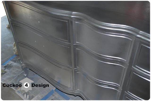 Metallic Spray Paint Furniture