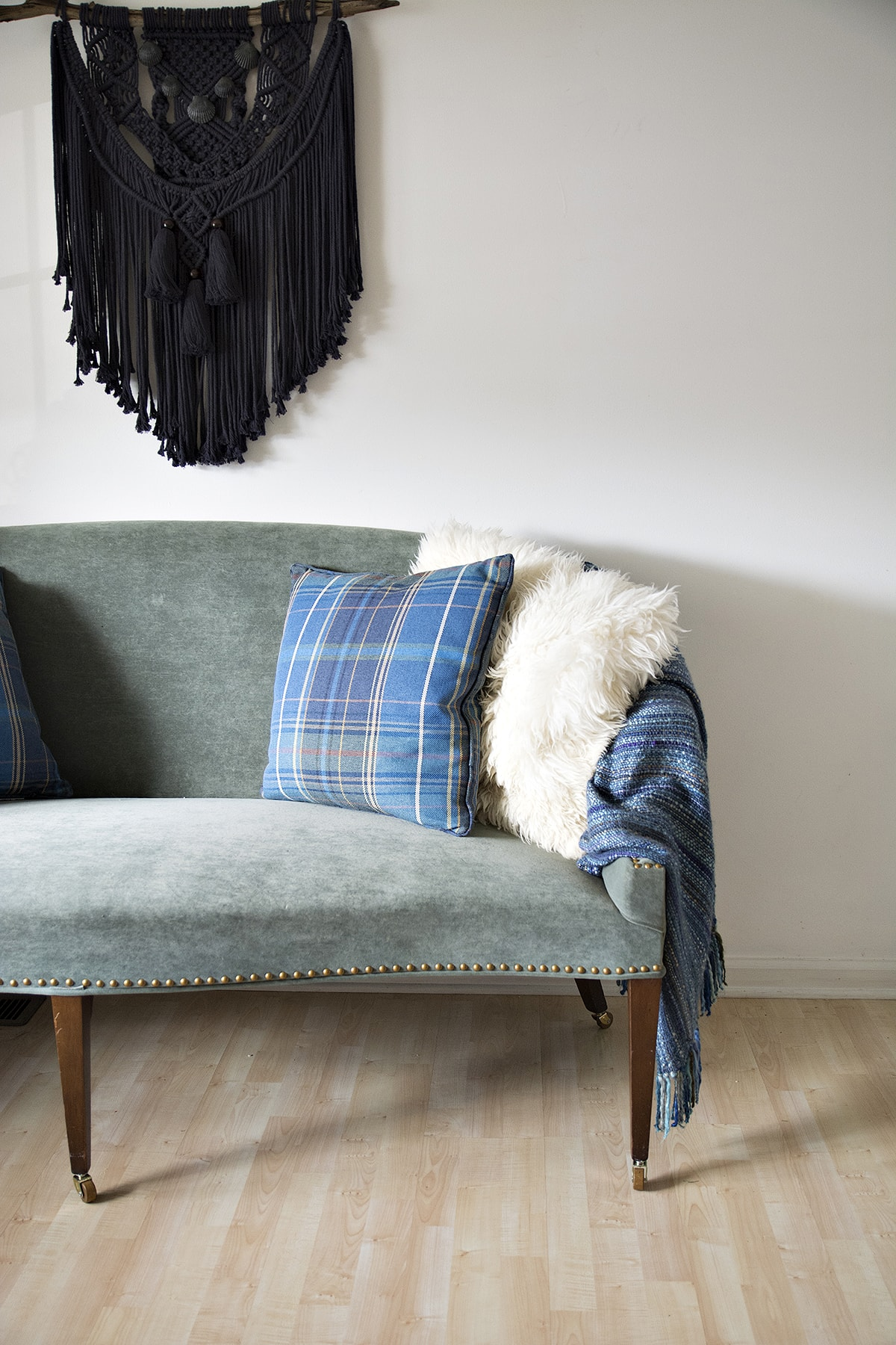 Raising A Sofa With Furniture Casters To Turn It Into A Dining Settee Bench Cuckoo4Design