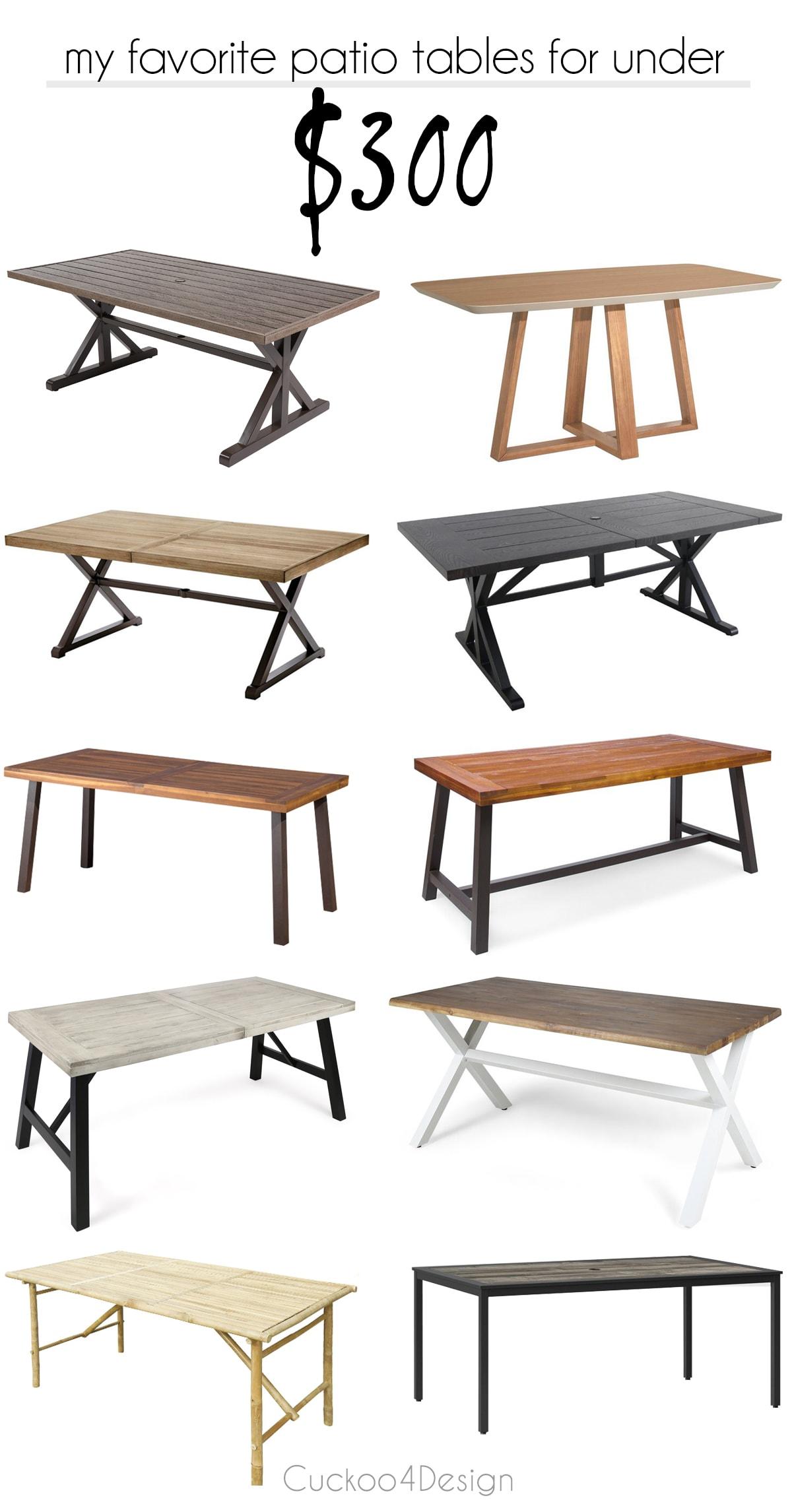 cheap patio tables cuckoo4design