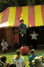 Circus and Entertainers at the Memorial Gardens in 2011