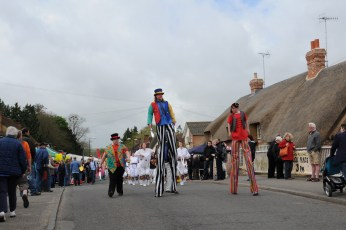 Circus and Entertainers at the Procession in 2013