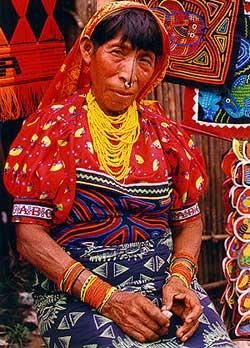 Kuna de panama y colombia