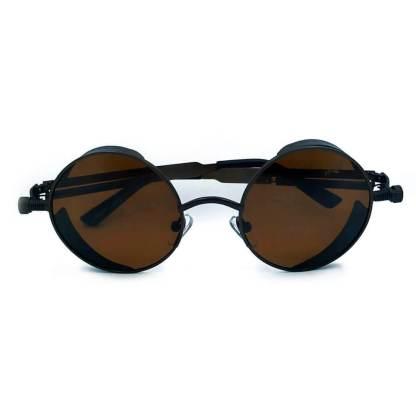 Óculos de sol redondo retrô marrom MP8051 C49-90