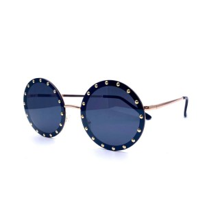 Óculos de Sol redondo bahamas preto dourado