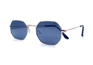 Óculos de Sol Octagonal Sensação Preto com Dourado