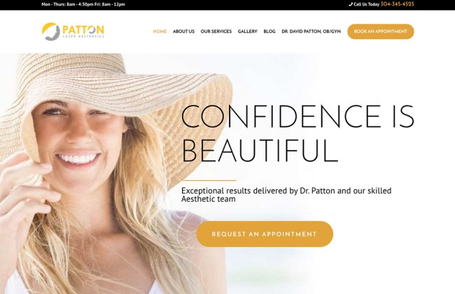Patton Laser Aesthetics Web design by cucumber & company