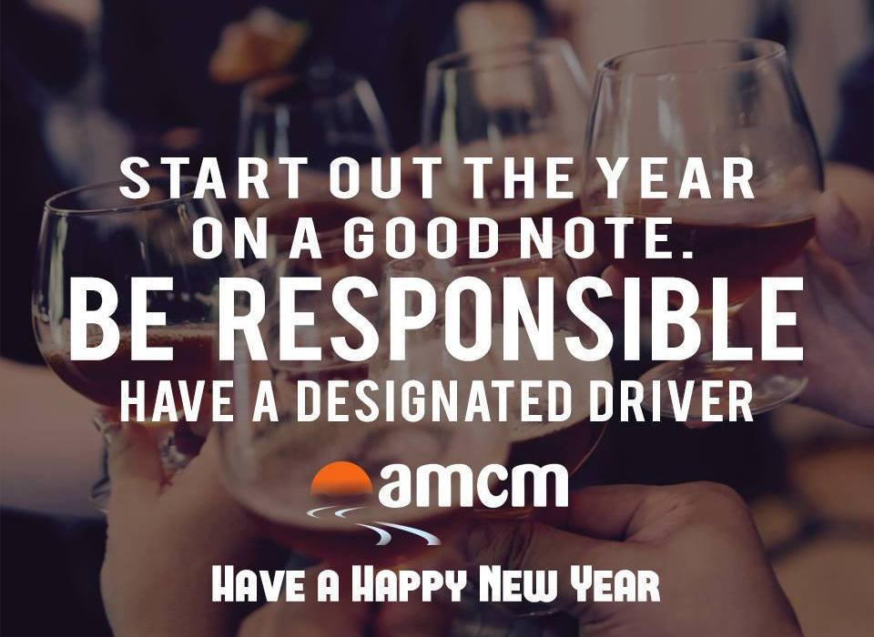 Drive Responsible New Year's PSA from AMCM graphic design and web design from cucumber and company