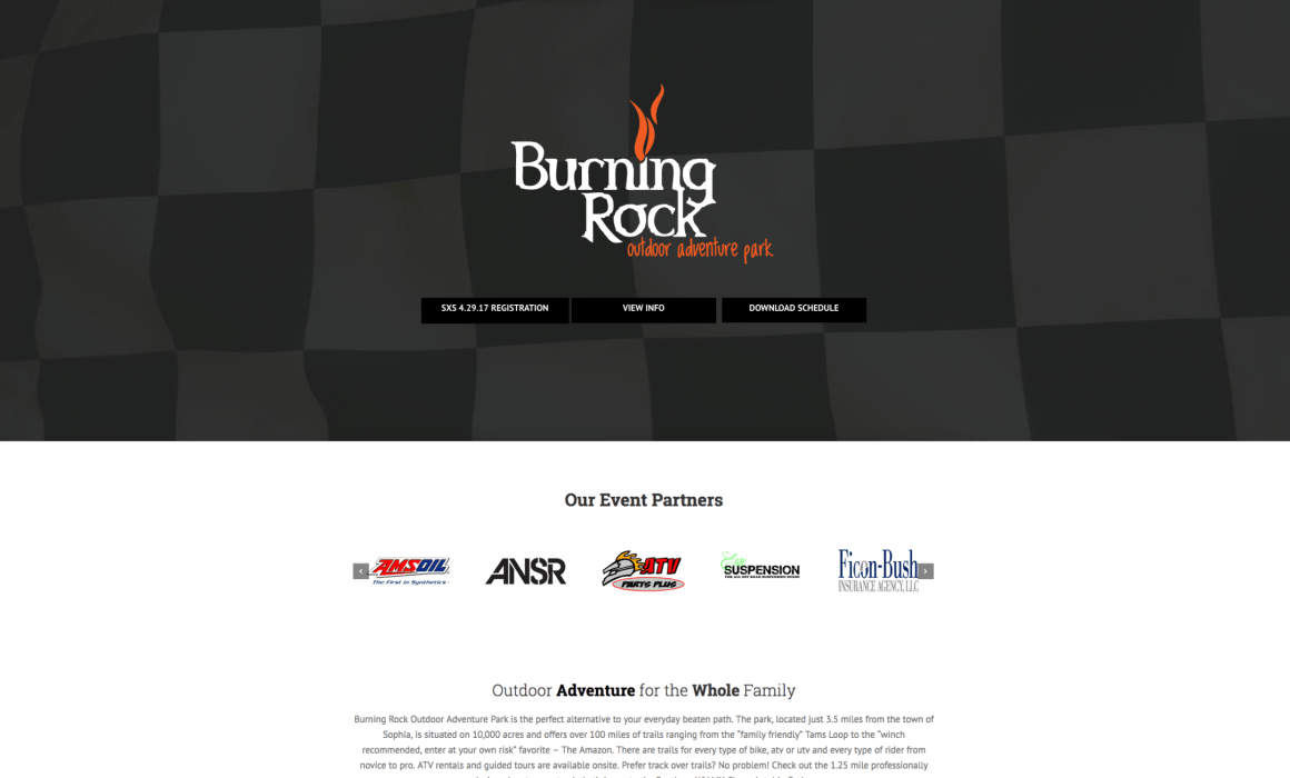 burning rock website by cucumber and company wv web design