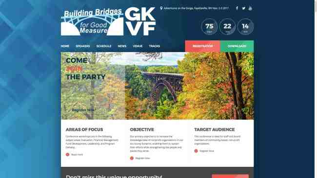 The Greater Kanawha Valley Foundation Conference Website