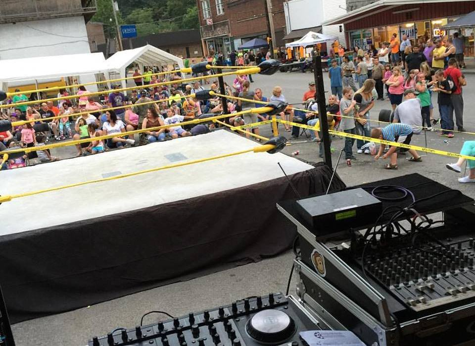Wrestling event at War Autumn festival Cucumber & Company AV Services and Video Production