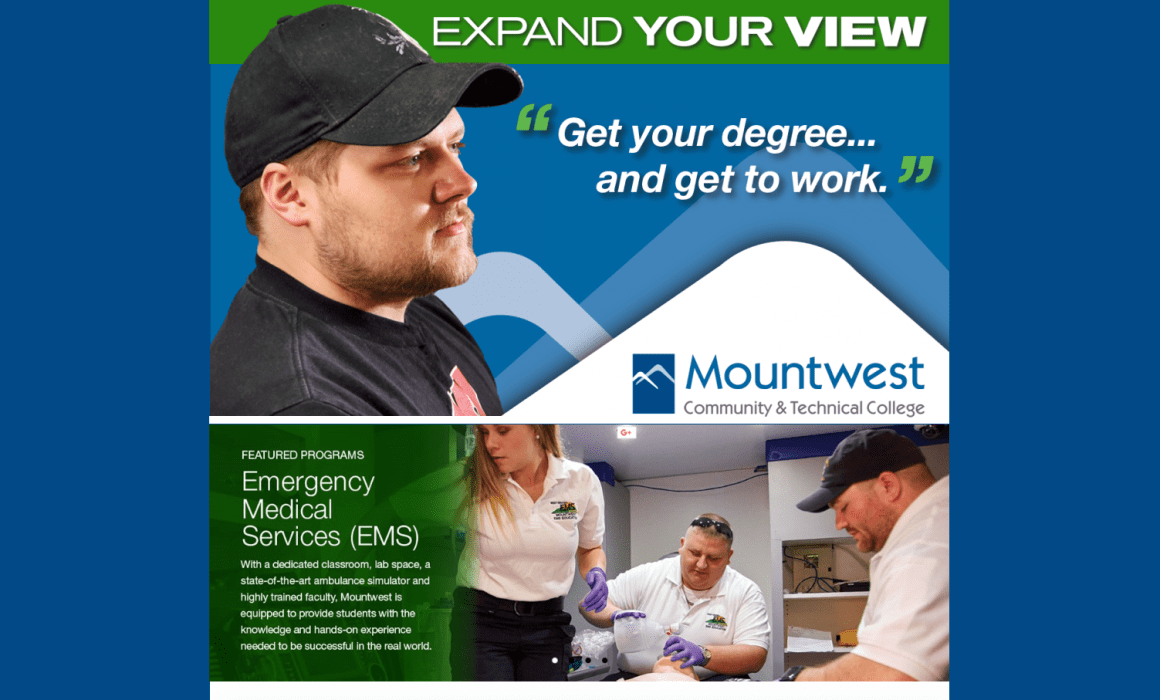 Mountwest Community & Technical College Website Landing Page from Cucumber and Company Expert Web Design West Virginia