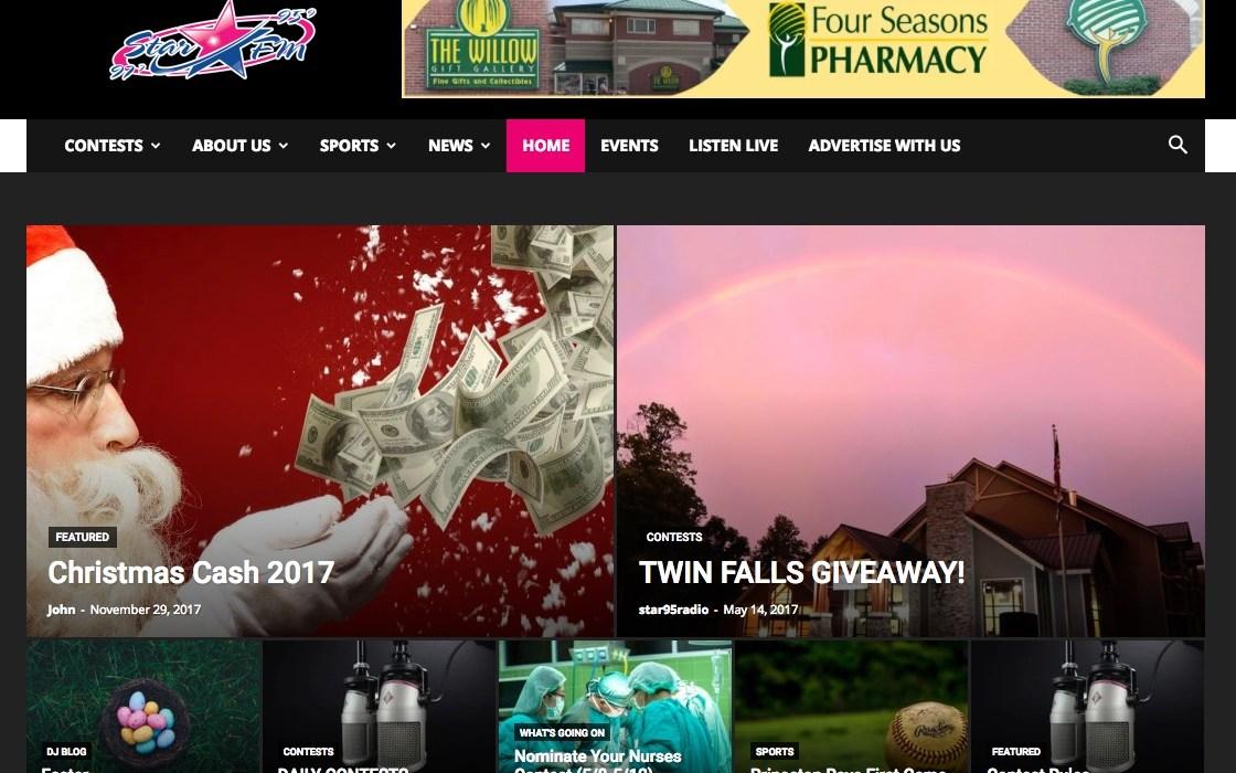 Star 95 FM Website Cucumber and Company Web Design Beckley, WV