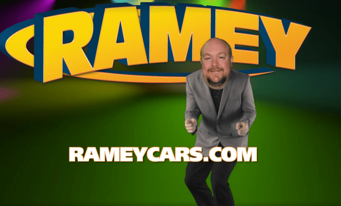 Rameycars.com guy with large head Video Production Beckley