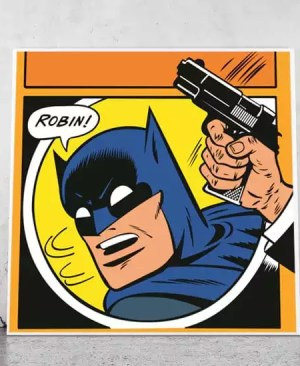 Batman i Robin, walka - plakat