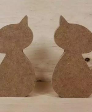 Drewniany kot (w-12 cm)