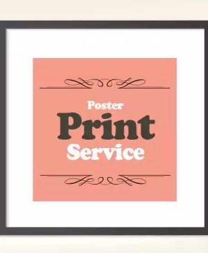 Usługi drukarskie - plakat
