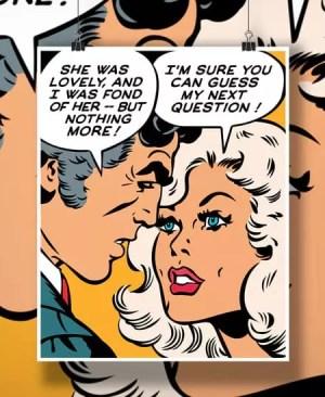 Scena z komiksu - plakat